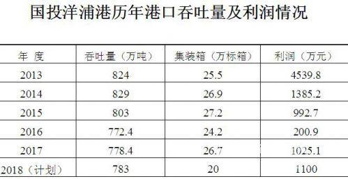 国投洋浦港历年港口吞吐量及利润情况。资料来源:国投洋浦港